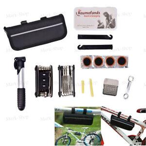 Bike Cycle Bicycle Repair Tool  Repair Kit With Pump Set Carry Case Bag