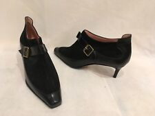 MANOLO BLAHNIK BLACK SUEDE LEATHER ANKLE BOOTS SIZE IT40/UK7/US10