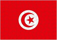 Tunisia Flag A4 JIGSAW Puzzle Birthday Christmas Gift (Can Be Personalised)
