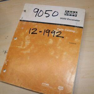 CASE 9050 Excavator Parts Manual book catalog spare list 1992 crawler factory
