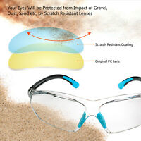 Safeyear Safety Glasses Goggles HD Clear Lens Anti Fog Antiscratch Soft Temples