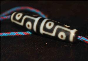 old tibetan 12 eyes dzi bead necklace agate a antique nepal ancient amulet eyed