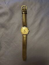 Vintage Elbon Bumper Automatic Triple Date Calendar Stainless Steel Men's Watch