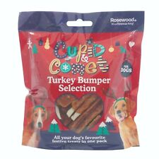 Rosewood Cupid & Comet Christmas Turkey Dog Treats Bumper Selection Pack 300g