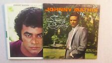 (2) Rare JOHNNY MATHIS LPs Autographed  SWING SOFTLY, WL Promo BEST DAYS