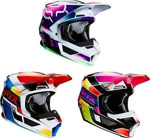 Fox Racing Youth V1 Helmet - MX Motocross Dirt Bike Off-Road ATV MTB Boys Girls