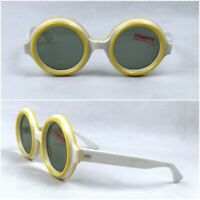lovely Yellow Sunglasses Vintage France Paris Made 1950s Round Candy Frame Rrae
