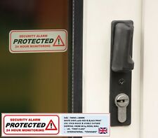 2 x PROTECTED: WINDOW STICKERS, SECURITY ALARM, 24H MONITORING, ALERTING