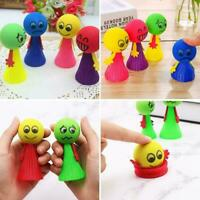 Bouncing Doll Toys Funny Faces Novelties Jumping Dolls Plastic New Kids Toy D4D8