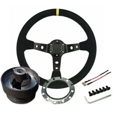 Renault Clio 172 / 182 Steering Wheel & Boss Kit Dished Suede Race Rally Track