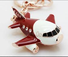 plane Key chain Keyring bag chain Rhinestone Charm Pendant Keyfob Keychain