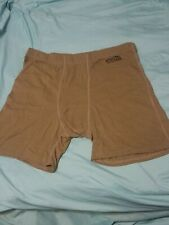 **NEW XGO FR Flame Retardant Men's Boxers Size: Large Color: Brown LOT OF 2