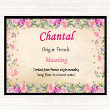 Chantal Name Meaning Dinner Table Placemat Floral