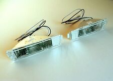 VW GOLF MK2 90-92 Front Indicator Crystal Clear Extra Light Unit Big Bumper Set