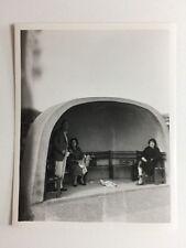 Vintage BW Real Photograph #AF : Picnic: Concrete Shelter