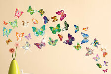 Colourful Butterflies with Swarovski Crystal Elements...Wall Sticker Art