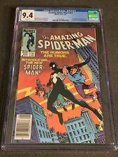 Amazing Spider-Man #252 CGC 9.4 NEWSSTAND (Marvel 1984) 1st Black Costume VENOM