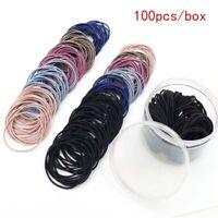 100Pcs Kids Girls Fashion Elastic Rope Women Hair Ties Ponytail Holder Hairban3C