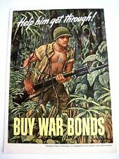 "Original ""Buy War Bonds"" Print By Arthur Schnakenberg - ""Help Him Get Through"" *"