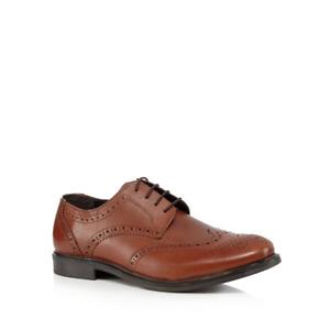Debenhams The Collection Tan leather Brogues UK 10 EU 44 LN180 TT 05