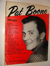 Pat Boone Sings 1957 Music Book My Blue Heaven Laura Friendly Persuasion +more