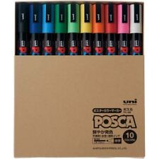 Uni-ball Posca PC5MT10C Paint Marker Pen Medium Point Set of 10 Japanese Import