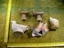 5 x excavated vintage damaged doll parts age 1890 altered Art mixed media B 720