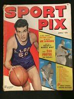 Sport Pix Magazine April 1949 Vintage  Cover: Ed Macauley / Joe DiMaggio   M1375