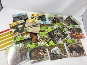 Vintage Illustrated Wildlife Treasury Cards OVER 500+ CARDS ( 360 SEALED)