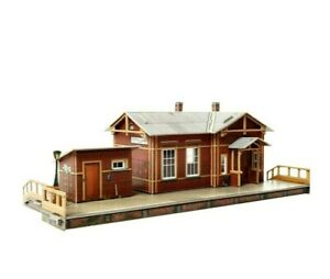 Building House Railway Station Train Waypoint HO Scale 1/87 Model Kit Puzzle 3D