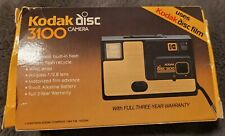 Vintage KODAK 3100 Disc Camera W/Original Box and Repair Slip