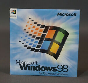 MICROSOFT WINDOWS 98 FULL OPERATING SYSTEM WIN 98 NEW VERSION - SEALED Disk CD