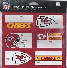 Kansas City Chiefs Christmas Present Name Labels Team Gift Stickers - To/From
