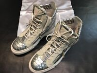 GIUSEPPE ZANOTTI CROC EMBOSSED 44.5 SIZE 11.5 SNEAKERS SHOES ALL AUTHENTIC