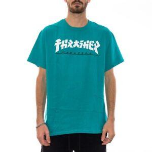 Thrasher Tee Godzilla Jade Premium Skateboard Magazine T-Shirt