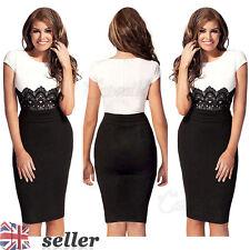 Women's Short Sleeve Cotton Blend Cocktail Stretch, Bodycon Dresses