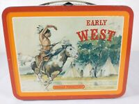 Early West Territory Ohio Art Metal Lunch Box