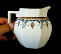 Beautiful Royal Doulton Art Deco Claremont Large Milk Jug, Orange, Circa 1912