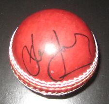 DEAN JONES HAND SIGNED RED CRICKET BALL UNFRAMED + PHOTO PROOF &  C.O.A