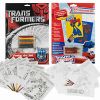 16 Transformers Posters Marker Pencil Art Colouring Set Kids Games Xmas Gift Kit