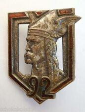 Francia Distintivo 92e Régiment D 'fanteria dai 30er