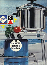 PUBLICITE ADVERTISING 1966 SEB  CAMPING GAZ