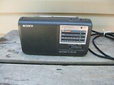 SONY ICF-36 FM/AM Weather TV Portable Radio