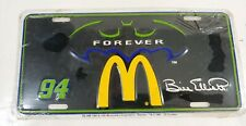 Nascar Bill Elliott Batman Forever McDonalds 1995 License Plate Auto Tag SEALED