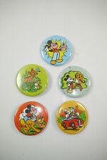 Disney 5 Buttons Pins Mickey Mouse Bambi Donald Duck Schmid Holland 80er K66 #08