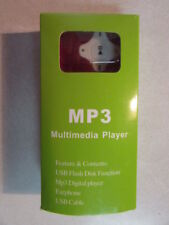 MP3 MULTIMEDIA PLAYER EARPHONE USB FLASH DISC FUNCTION NEW IN BOX MADE IN CHINA
