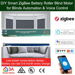 ZigBee Smart Battery Roller Blind Motor for SmartThings Hubitat APP Voice Contr