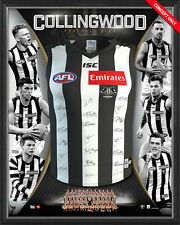 COLLINGWOOD 2017 TEAM SIGNED & FRAMED LIMITED EDITION GUERNSEY PENDLEBURY