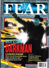 FEAR #15 (1990) UK horror mag - Sam Raimi DARKMAN, Adrian Cole, Grant Morrison