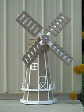 "46"" Octagon Polywood Dutch Windmill  (Clay with WhiteTrim)"